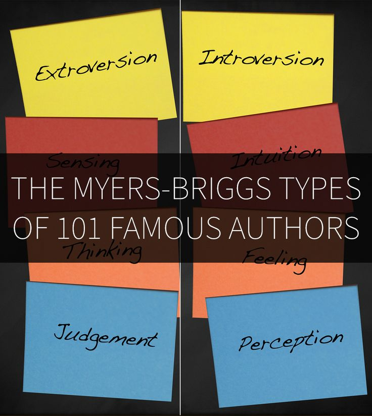 The Myers-Briggs Types of 101 Famous Authors | Parchment Girl