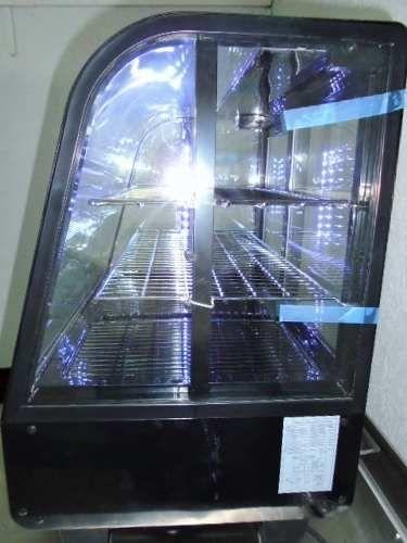 vitriina refrigerada de crstal curvo