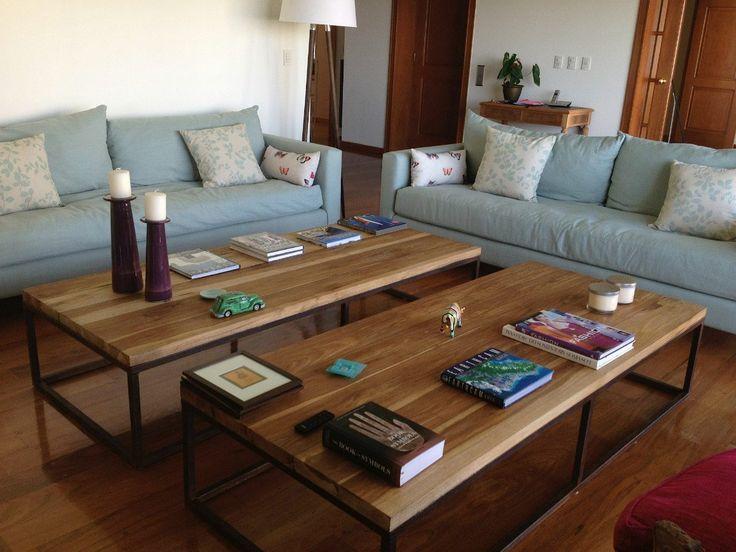 Las 25 mejores ideas sobre mesas auxiliares r sticas en for Mesa hierro y madera