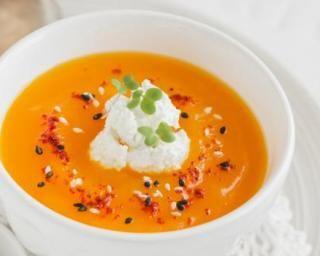 Velouté de fête au potimarron et aux carottes : http://www.fourchette-et-bikini.fr/recettes/recettes-minceur/veloute-de-fete-au-potimarron-et-aux-carottes.html