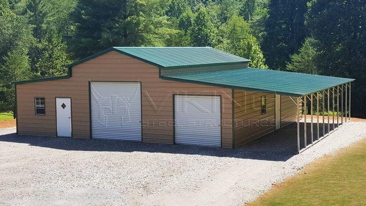 54'W x 40'L x 12/9'H Carolina Barn in 2020 Steel