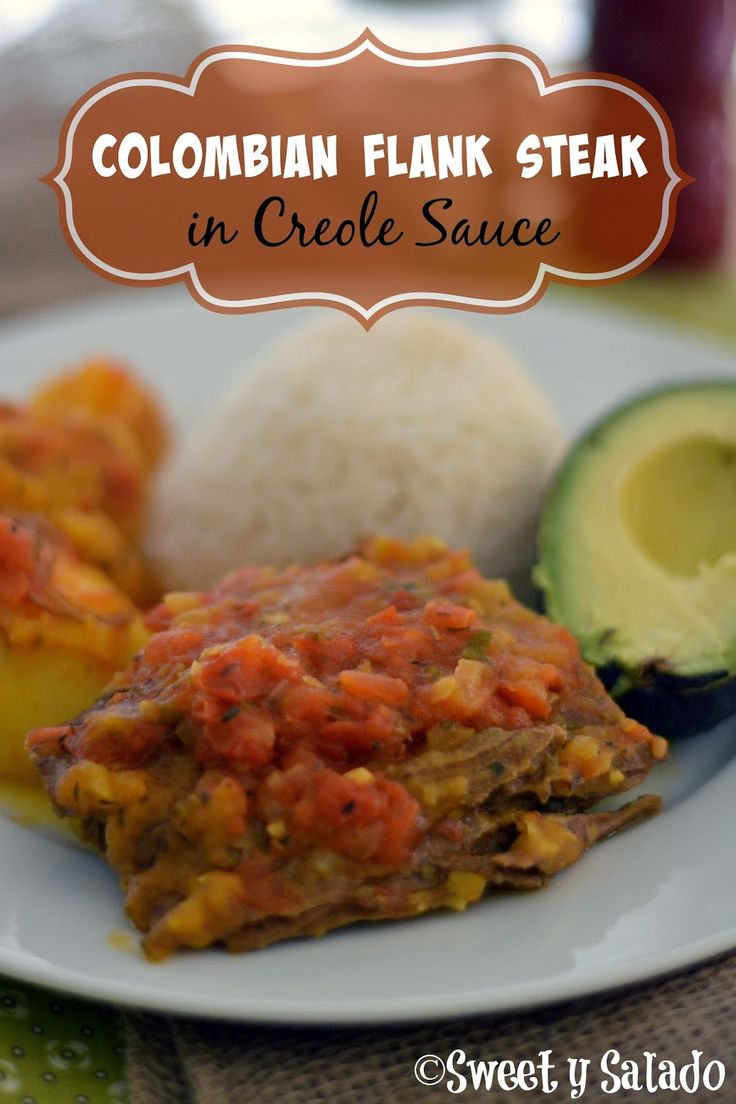 Colombian Flank Steak With Creole Sauce // Sobrebarriga En Salsa