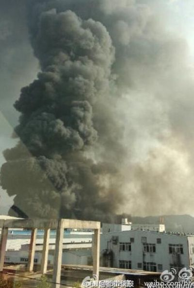 Another Chinese Chemical Plant Explodes, Huge Clouds Of Black Smoke Billow Skyward | Zero Hedge