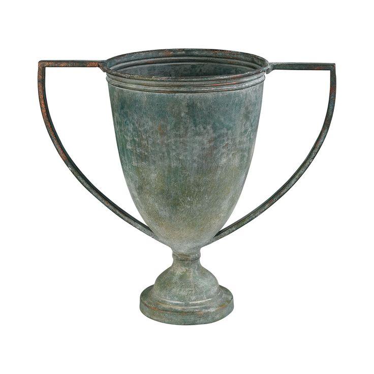 Guildmaster GUI-2100-002 Metal Vases Collection Natural Aged Finish Vase/Urn