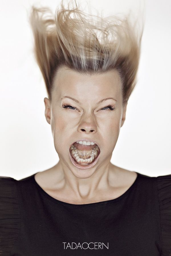 Lithuanian photographer and artist Tadao Cern has been working on a series of hilarious portraits entitled, ahem, Blow Job, that depicts individuals enduring gale-force winds directly to the face.