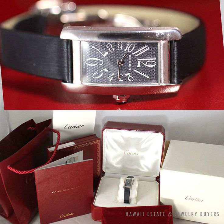 see more #vintagejewelry on our website (link in bio!) #CARTIER TANK AMERICAINE 18K WHITE GOLD LADIES WATCH  SMALL W/ FULL BOX & PAPERS #Cartier #LuxuryDressStyles