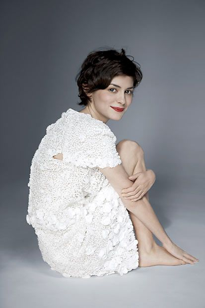 Audrey Tautou by Ralph Wenig - when I become an elegant adult, I want hair like this