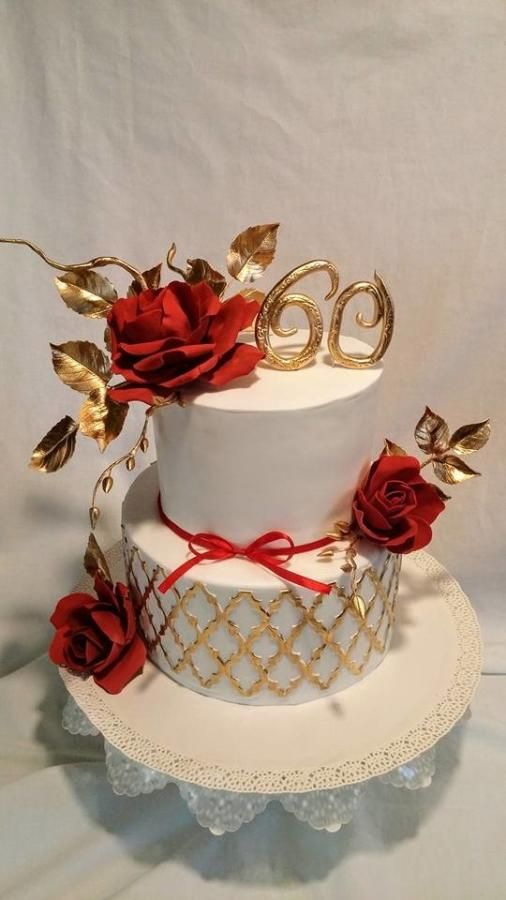 Red roses - Cake by alenascakes