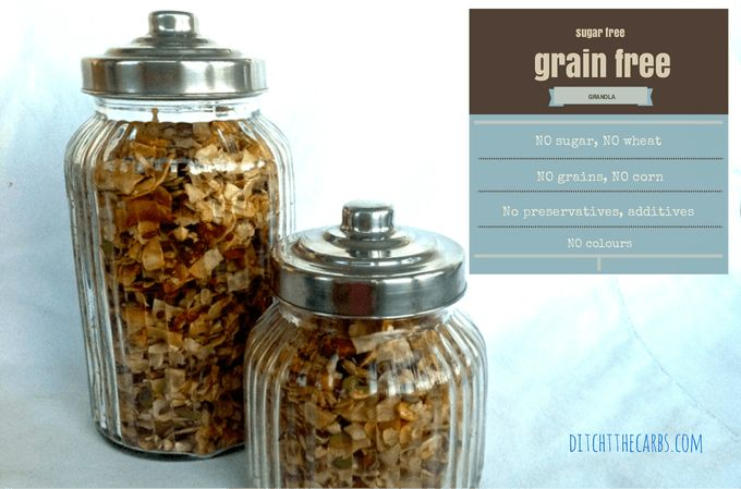 Grain Free Granola - no sugar, no wheat, gluten free from our friends at @ditchthecarbs