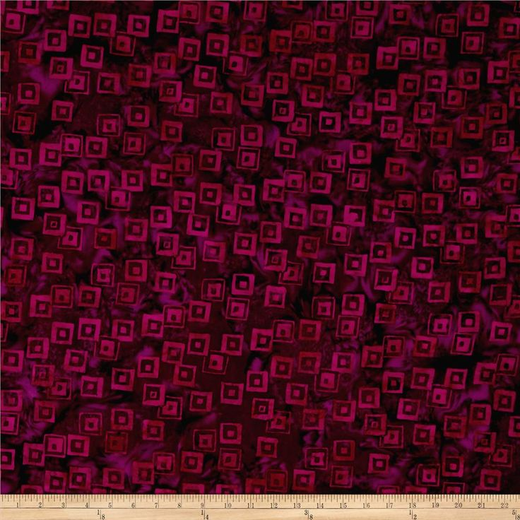 Island Batik Lavish Habitat Plum/Fuschia from @fabricdotcom  Designed by Island Batik, this Indonesian batik is perfect for quilting, apparel, and home décor accents. Colors include shades of purple and fuschia.