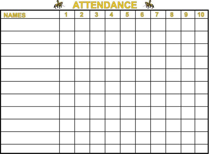 printable sunday school attendance charts