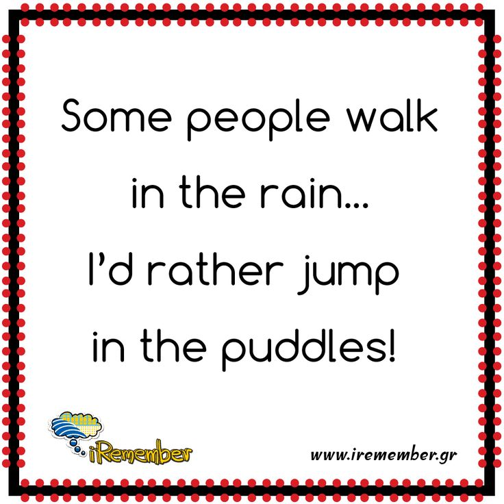 #walk #rain #puddles