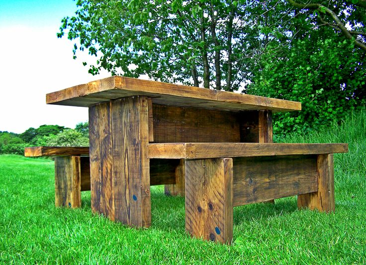 Rustic Twist Garden table and Bench Set...