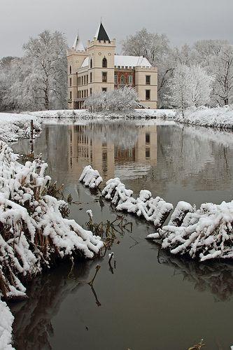 Castle Beverweerd during wintertime, The Netherlands