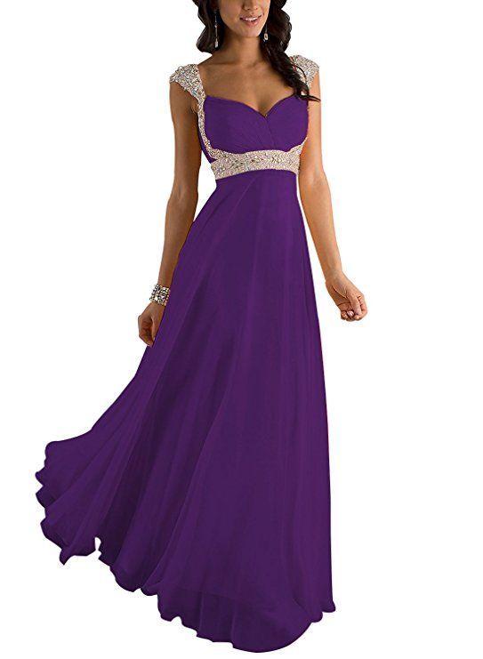 fe459ddd41ca Traumhaftes Brautjungfernkleider   Abendkleid in lila. Das bodenlange Kleid  hat einen herzförmigen Ausschnitt, der ein tolles Dek…