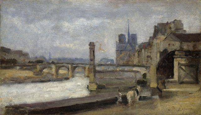Stanislas-Victor-Edmond Lepine - The Pont de la Tournelle, Paris [1862-64]