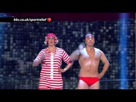I you need a Laugh!   Dancing Queens: David Walliams and Miranda Hart - BBC Sport Relief Night 2012