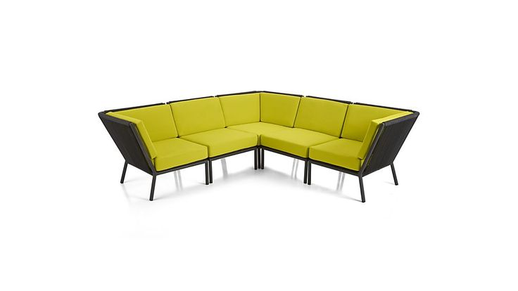 Morocco 5-Piece Sectional with Sunbrella ® Cushions | Crate and Barrel