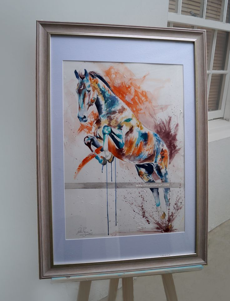 contemporary watercolour horse painting by chloe brown