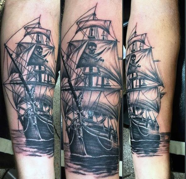and save photo ideas about Sunken Pirate Ship Tattoo on Fresh-Tattoos ...