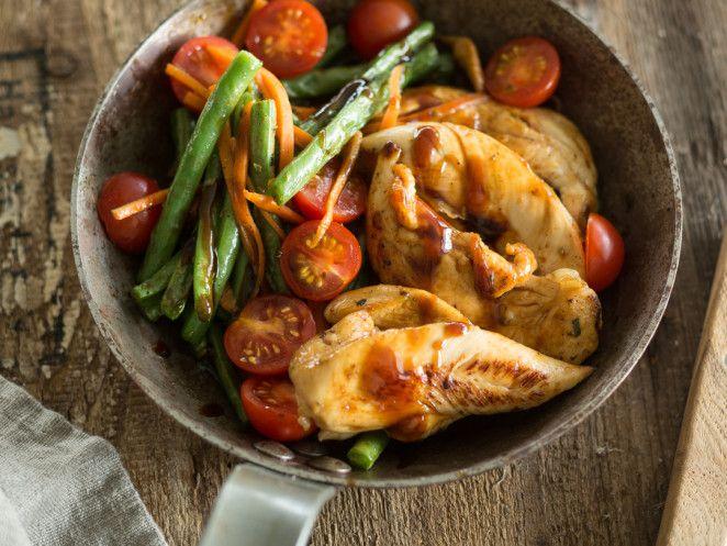 Balsamico-Hähnchen aus der Pfanne