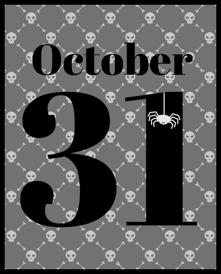 October 31 printable