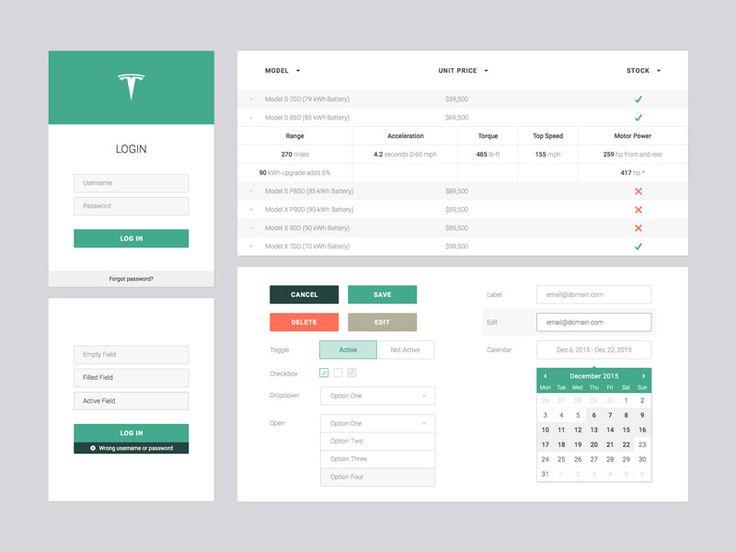 Web App UI Set
