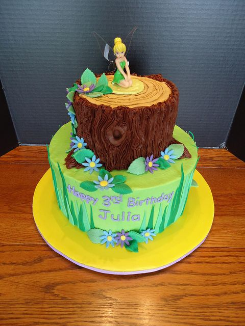 tinkerbell 3 tier cake | Julia's Tinkerbell cake | Flickr - Photo Sharing!