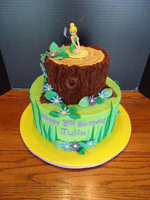 tinkerbell 3 tier cake | Julia's Tinkerbell cake | Flickr - Photo Sharing!