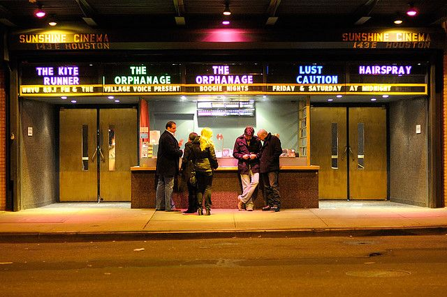 Go see an Indie Movie at Sunshine Cinema, LES – 143 E Houston St, New York, NY 10002