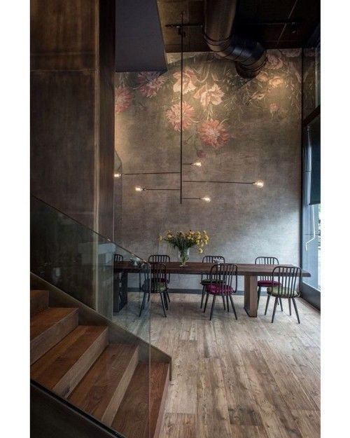 How about this industrial dining room  via tdoeswool - Architecture and Home Decor - Bedroom - Bathroom - Kitchen And Living Room Interior Design Decorating Ideas - #architecture #design #interiordesign #homedesign #architect #architectural #homedecor #realestate #contemporaryart #inspiration #creative #decor #decoration