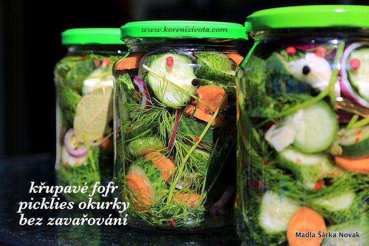 Okurky bez zavařování, extra křupavé spolu s další zeleninou jsou pestrou a snadnou variantou pro okurky nakládačky a letní úrodu zeleniny .