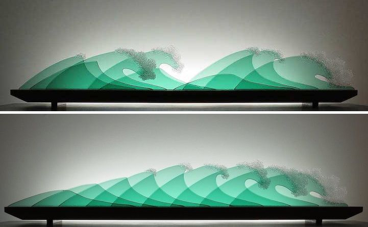 Rearrangeable Layers of Glass Form Stunning 3D Landscapes and Seascapes - My Modern Met