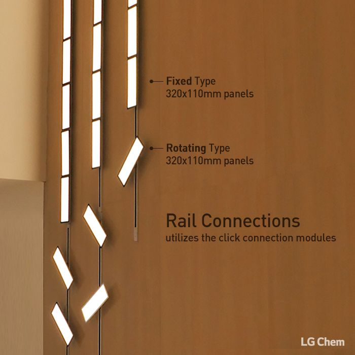 fixed and rotating types in rail connection from lg chem oled light can be moved and rotated as. Black Bedroom Furniture Sets. Home Design Ideas