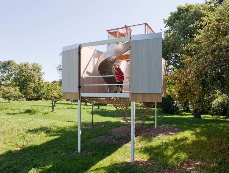 spielhaus im garten – modernes kinderspielhaus aus holz, Gartengestaltung