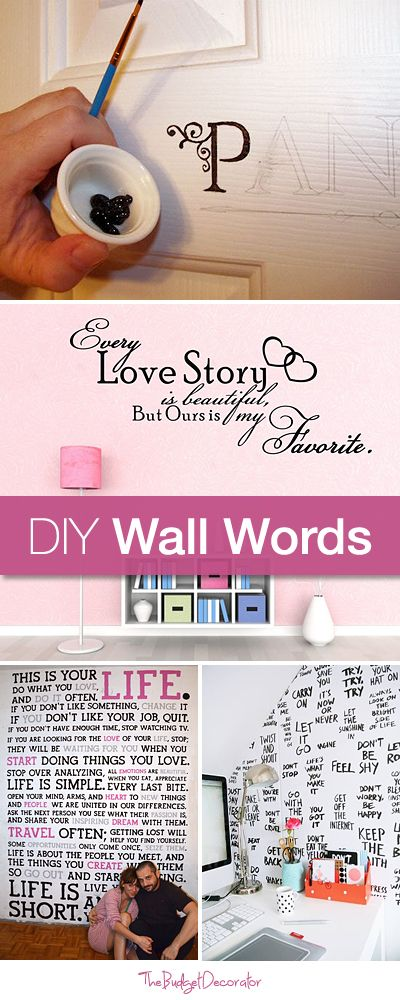 DIY Wall Words • Tutorials and ideas!