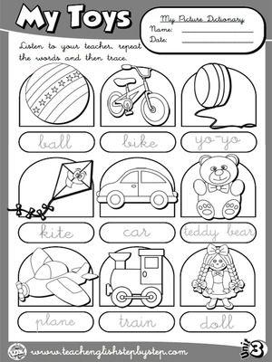 Mis Juguetes - Picture Dictionary (B & W version)                                                                                                                                                                                 Más