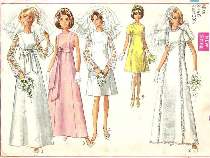 Garden party dress patterns wedding dress sewing for Wedding dress patterns vintage