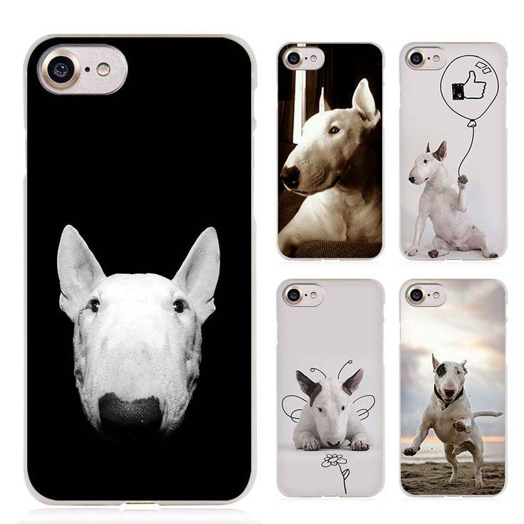 Bull Terrier bullterrier dog Clear Cell Phone Case Cover for Apple iPhone 4 4s 5 5s SE 5c 6 6s 7 Plus