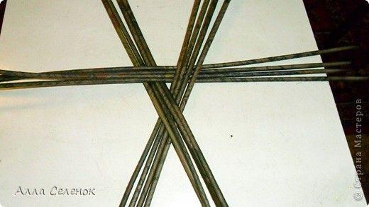 Плетение треугольного дна+МК к нему.