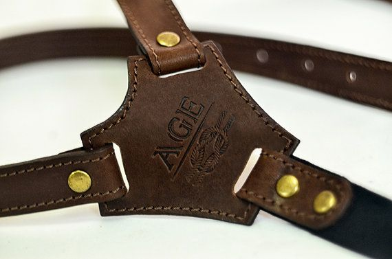 Genuine leather braces leather suspenders men's by MenEvolution
