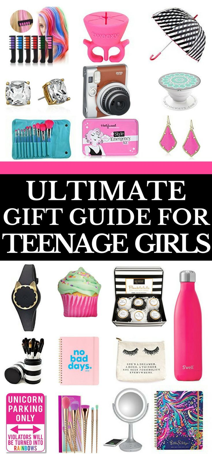 If you're looking for gifts for teens then you need the ultimate gift guide for teenage girls! Over 127 popular gift ideas that teenagers want for Christmas, birthday, or just because you want to give a unique gift! The ultimate gift guide includes gifts for teens for all budgets! You'll find everything from cheap to expensive on the ultimate gift guide for teenage girls! Click to read or pin for later! #gifts#giftidea  #teenagers #giftguide