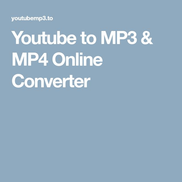 Youtube to MP3 & MP4 Online Converter