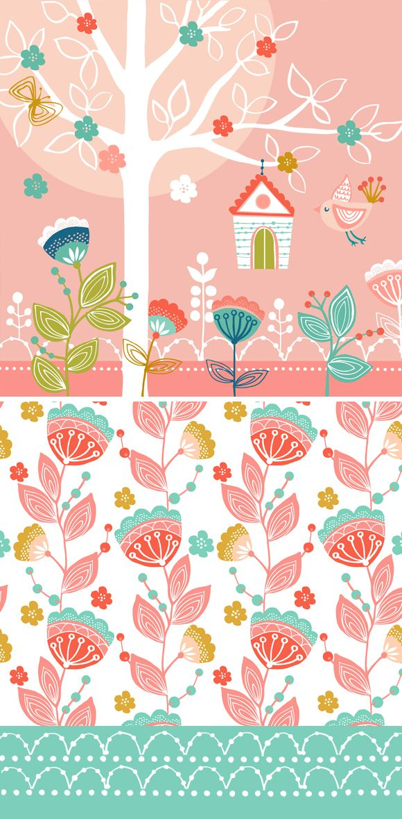 wendy kendall designs – freelance surface pattern designer » bird garden