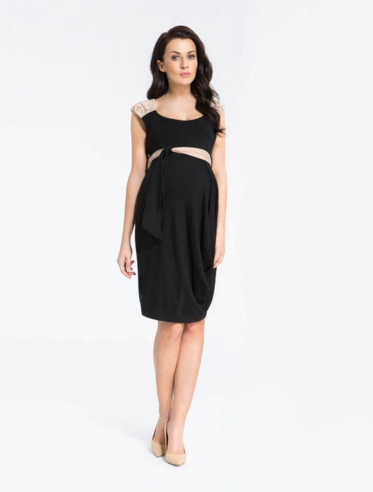 9 Fashion Short Sleeve Lace Detailed Maternity Dress | Olive Maternity