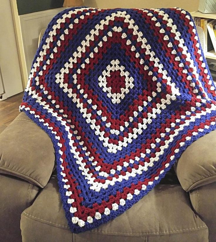 Patriotic Blanket - Crochet creation by Michelle