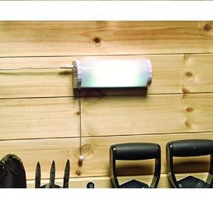 Solar Shed Light | Solar Gargage Light No mains power required simply install solar panel on outside of shed and the light inside. Light up shed, greenhouse, workshop or garage without adding to energy bill.