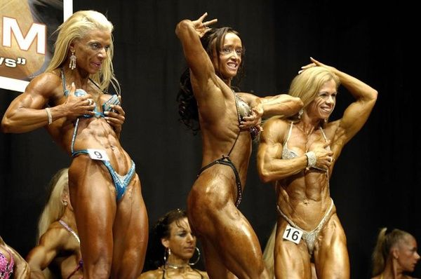 Who are we to judge what makes others happy? These women aren't body builders for your enjoyment. They are body builders for their own inner joy.