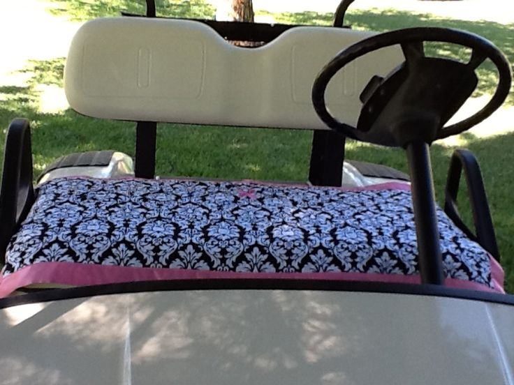 Golf cart seat cover Breast Cancer Awareness by PrettifulCovers, $35.00