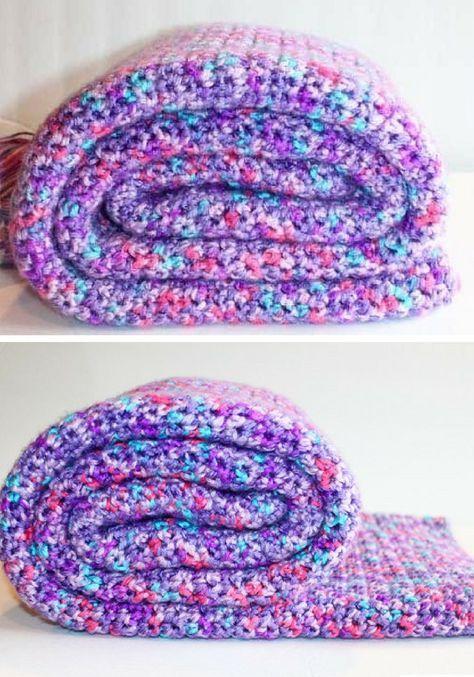 Single Crochet Blanket Pattern Easy Single Stitch Crochet Blanket
